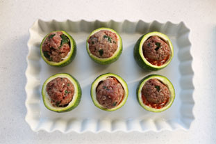 Quick stuffed courgettes : Photo of step #4