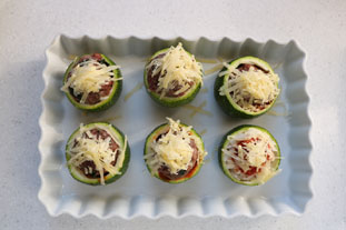 Quick stuffed courgettes : Photo of step #5