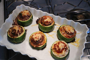 Quick stuffed courgettes : Photo of step #6