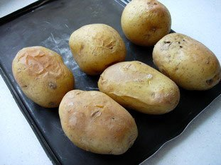 Baked potoatoes with herb butter or cream  : Photo of step #7
