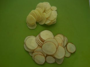Home-made potato crisps  : Photo of step #2