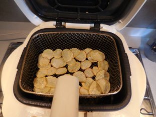 Home-made potato crisps  : Photo of step #7