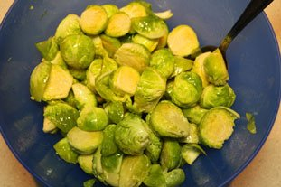 Oven-roasted Sprouts : Photo of step #2