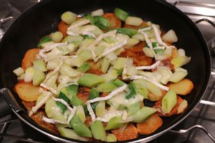 Crispy potato galette with leeks : Photo of step #7
