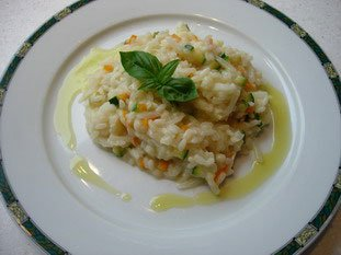 Creamy risotto with vegetables