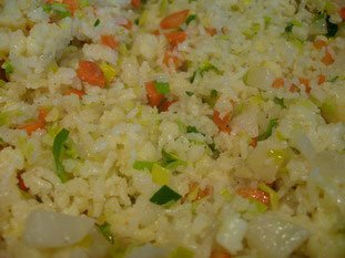 Thaï rice with small vegetables
