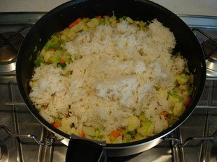 Thaï rice with small vegetables : Photo of step #11