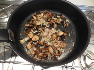 Spaghetti with mushrooms : Photo of step #8
