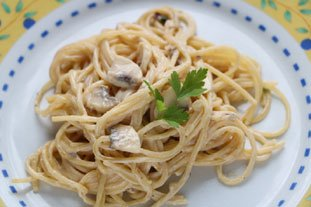 Pasta with mushrooms : Photo of step #9