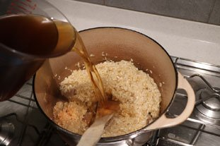 Morel risotto with Vin Jaune and Mont d'Or : Photo of step #6