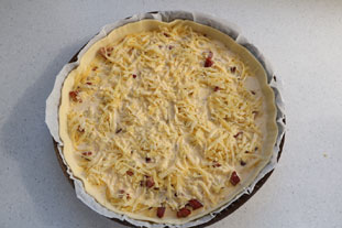 Two-cheese quiche : Photo of step #8