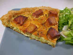 Leek and fresh tuna tart