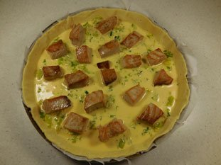 Leek and fresh tuna tart : Photo of step #9