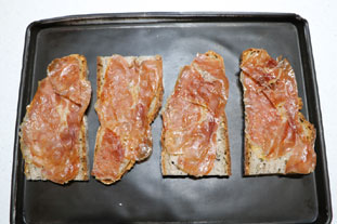 Ham and cheese slices with spring onions : Photo of step #6