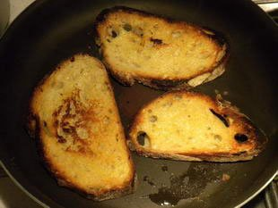 Mushrooms on toast, French style : Photo of step #6