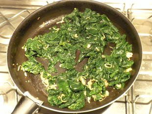 Gratin slices with spinach : Photo of step #8