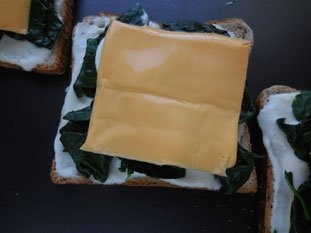 Spinach Croque-monsieur  : Photo of step #5