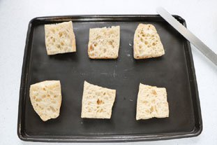 Baked leek and Camembert slices : Photo of step #4