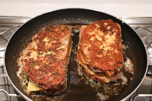 "French toast ""cordon bleu"" : Photo of step #12"