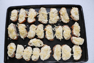Mini cheese and mustard toasts : Photo of step #6