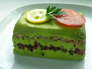 Avocado and smoked salmon terrine