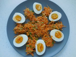 Eggs with mayonnaise : Photo of step #3