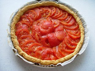Tomato tart : Photo of step #8