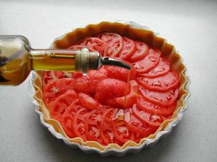 Tomato tart : Photo of step #6