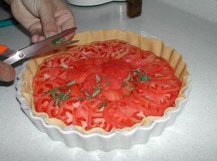 Tomato tart : Photo of step #7