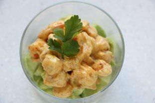 Avocado with Sautéed Prawns  : Photo of step #7