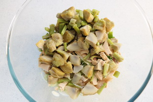 Avocado, artichoke and chicken salad : Photo of step #4