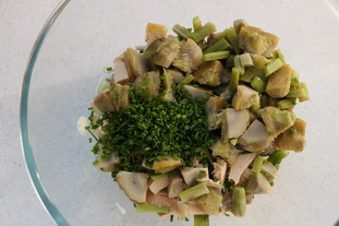 Avocado, artichoke and chicken salad : Photo of step #5