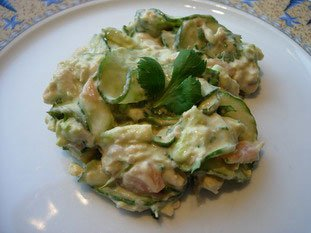 Cucumber and salmon salad