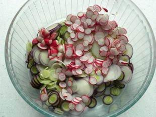 Warm chicken salad : Photo of step #3