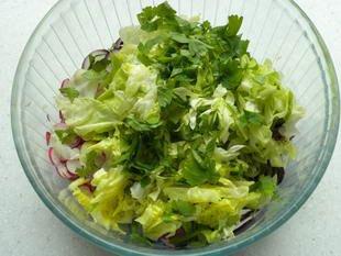 Warm chicken salad : Photo of step #5
