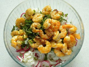 Prawn salad with a crunch : Photo of step #10