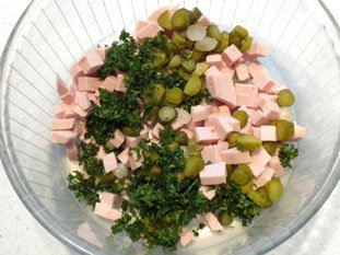 Cervelas salad : Photo of step #5