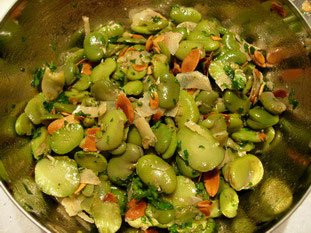 Broad bean salad with Parmesan : Photo of step #12