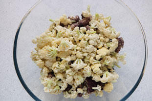 Two-colour cauliflower salad : Photo of step #4