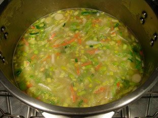 Smooth mixed vegetable soup : Photo of step #7