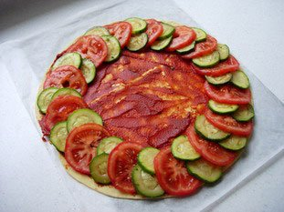 Tomato and courgette tart : Photo of step #6