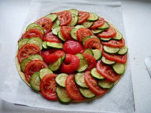Tomato and courgette tart : Photo of step #7