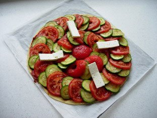 Tomato and courgette tart : Photo of step #8