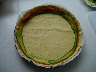Vegetable rosette tart : Photo of step #10