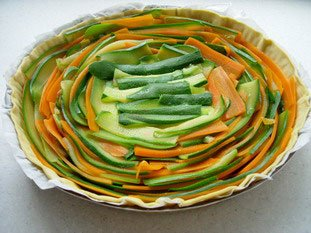 Vegetable rosette tart : Photo of step #11