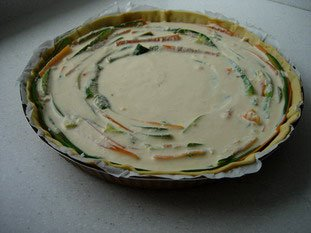 Vegetable rosette tart : Photo of step #13