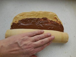 Flaky chocolate brioche : Photo of step #19