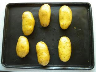 Potatoes with prawns : Photo of step #1