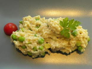 "Pea risotto ""mantecare"" : Photo of step #16"