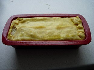 Koulibiak in pie dish : Photo of step #22